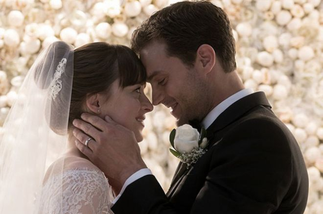 Dakota Johnson en Jamie Dornan in de film