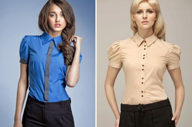 Office shirts met mouw zaklamp